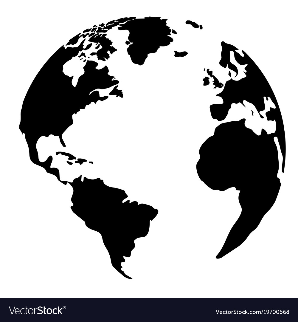 silhouette of a globe royalty free vector image rh vectorstock com globe vector free download globe vector png