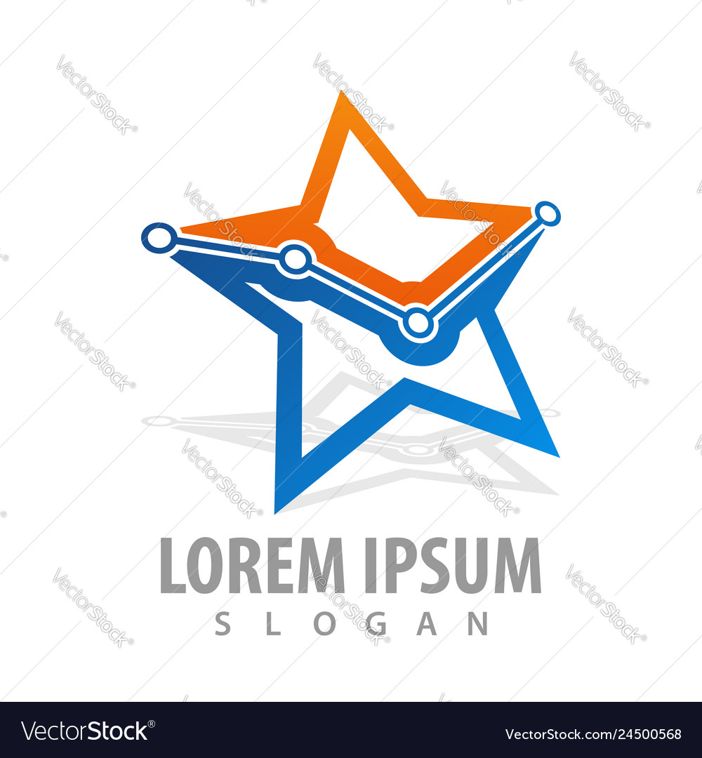 Technology star graph point concept design symbol