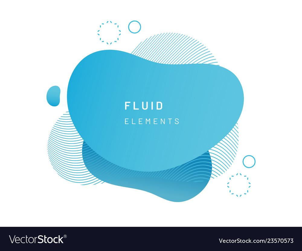 Blue fluid blob for card background