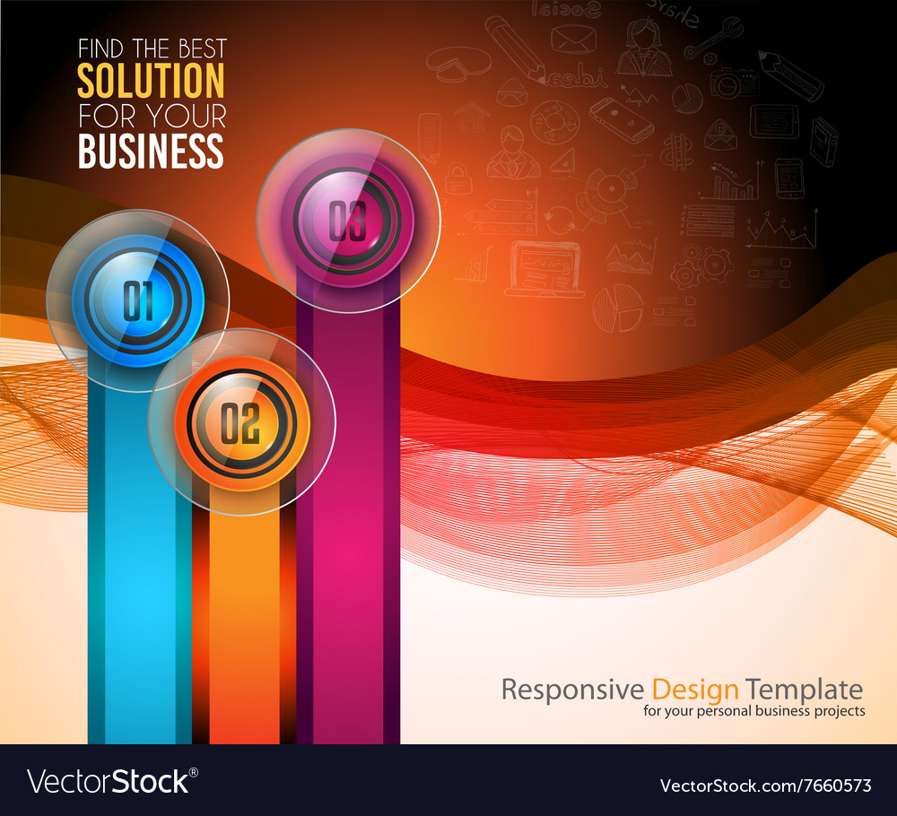 Clean Infographic Layout Template for data and