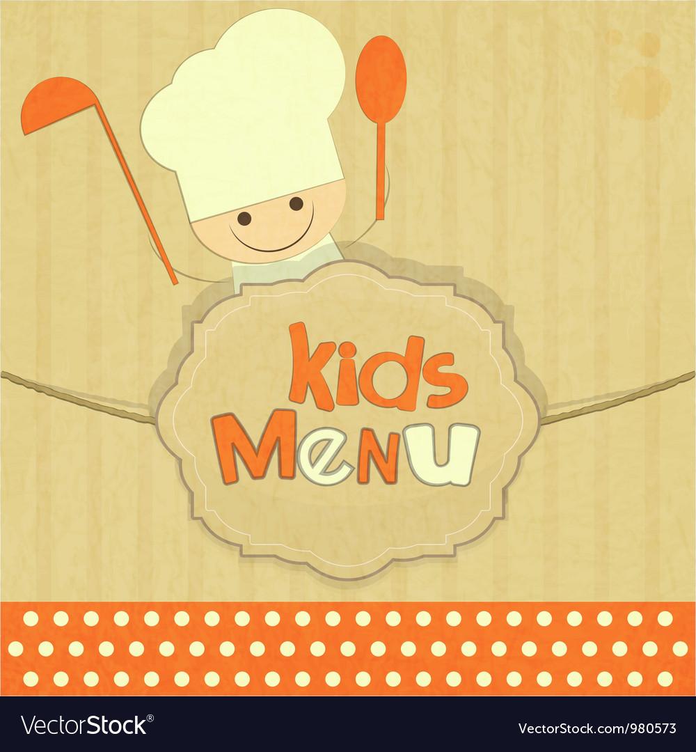 Design of kids menu