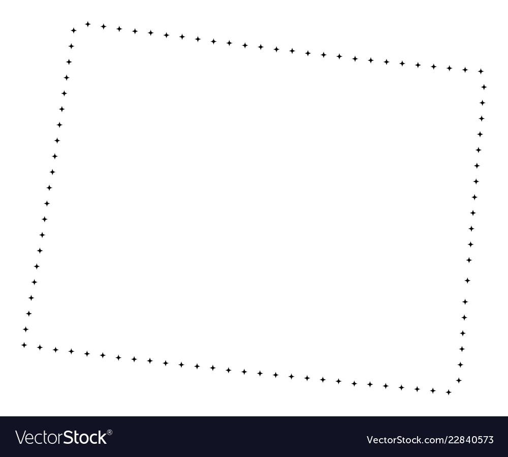 Free Wyoming State Map.Dot Stroke Wyoming State Map Royalty Free Vector Image