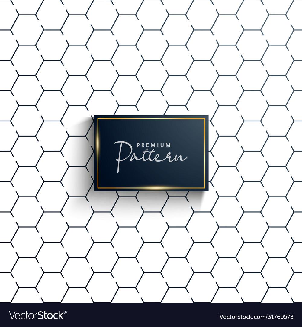 Modern seamless hexagon pattern