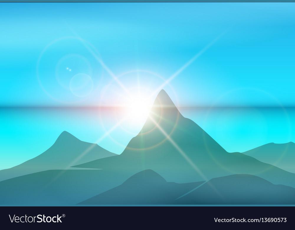 Morning island landscape