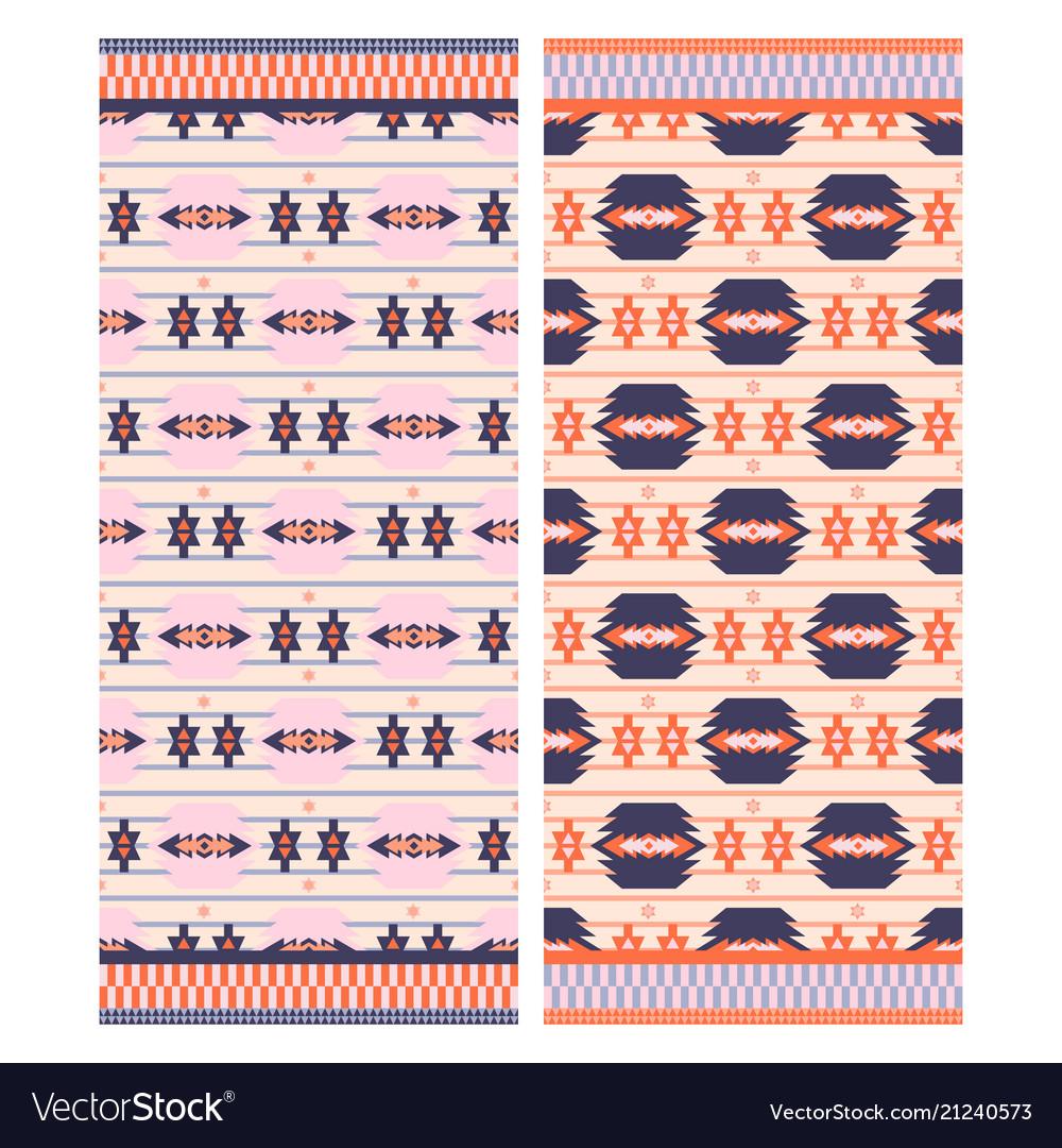 Pink aztec beach towel print