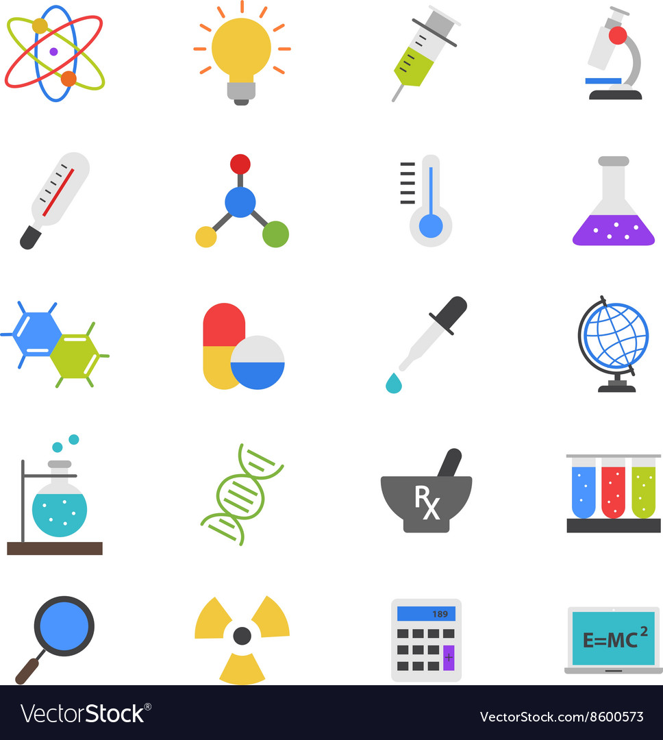 Science and Medical Flat Color Icons