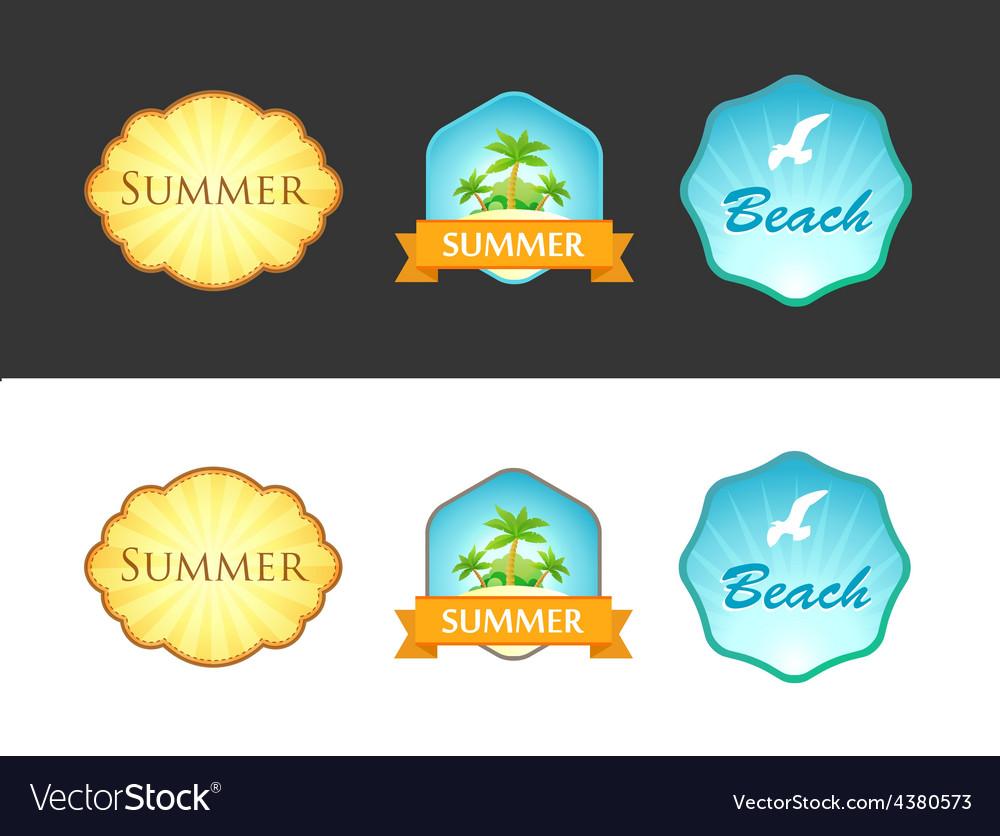Set of Emblem with Summer