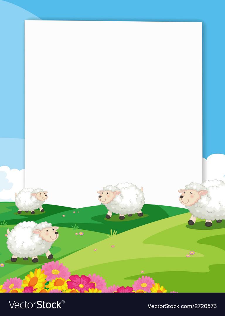 Sheeps Banner vector image