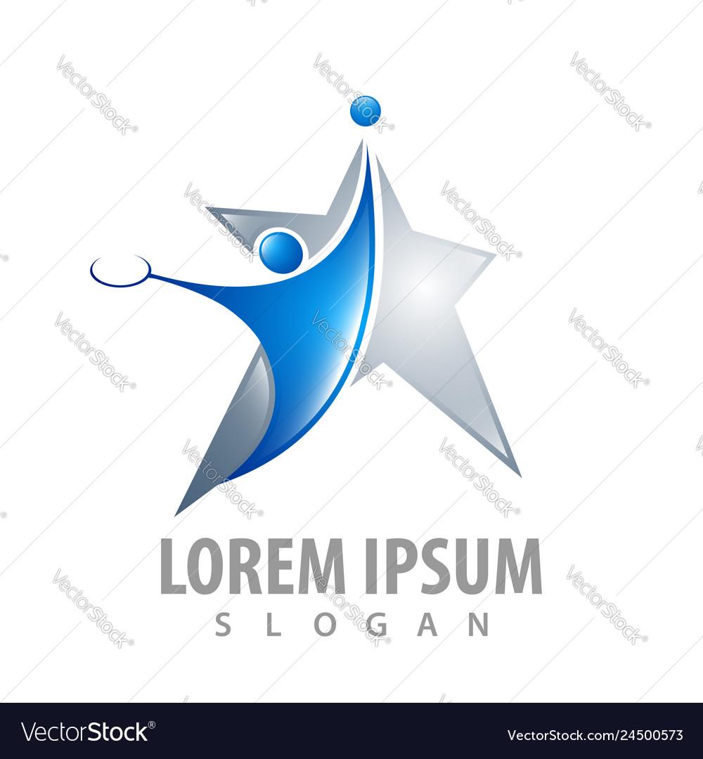 Star tennis athlete concept design symbol graphic