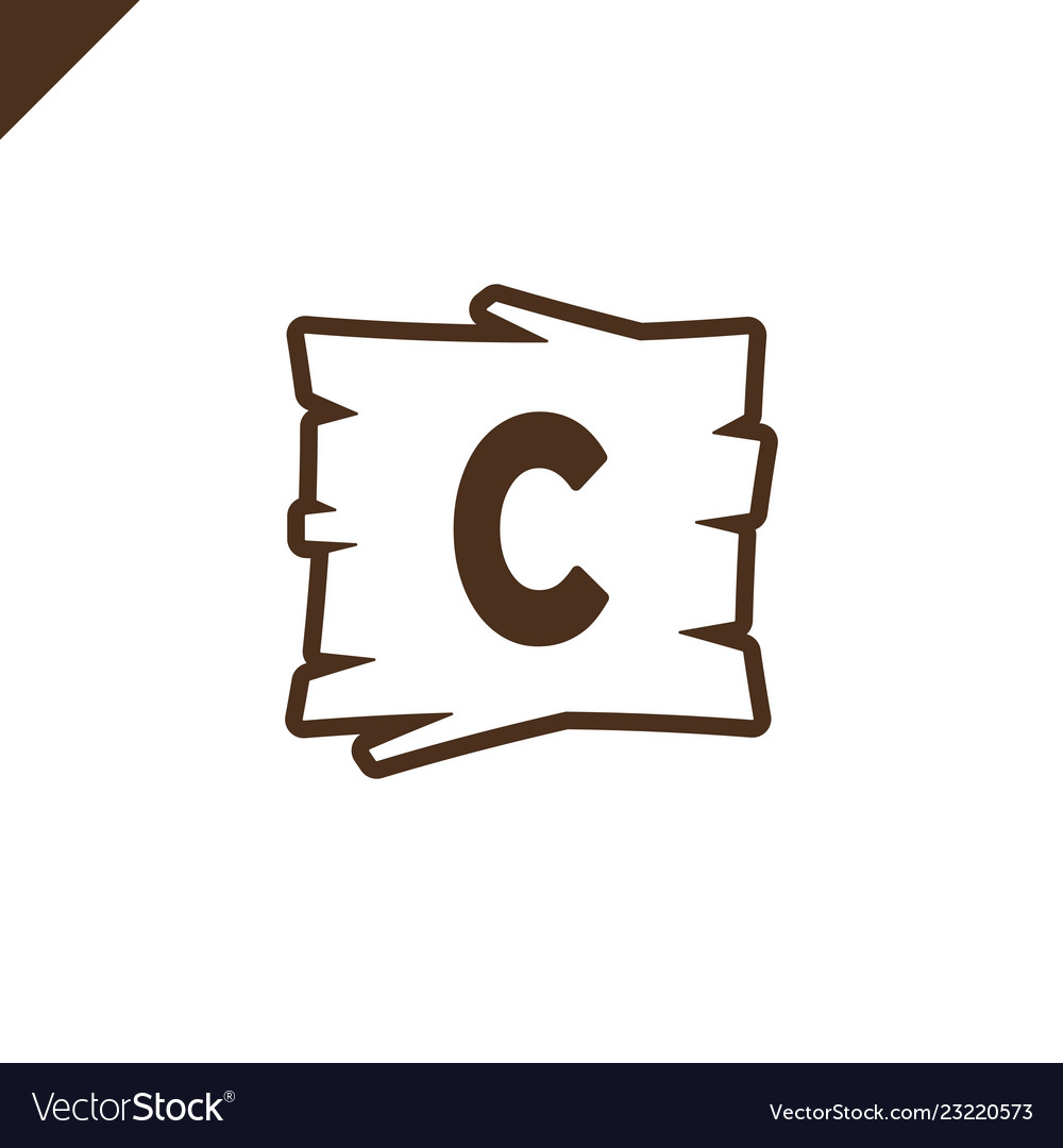Wooden alphabet or font blocks with letter c