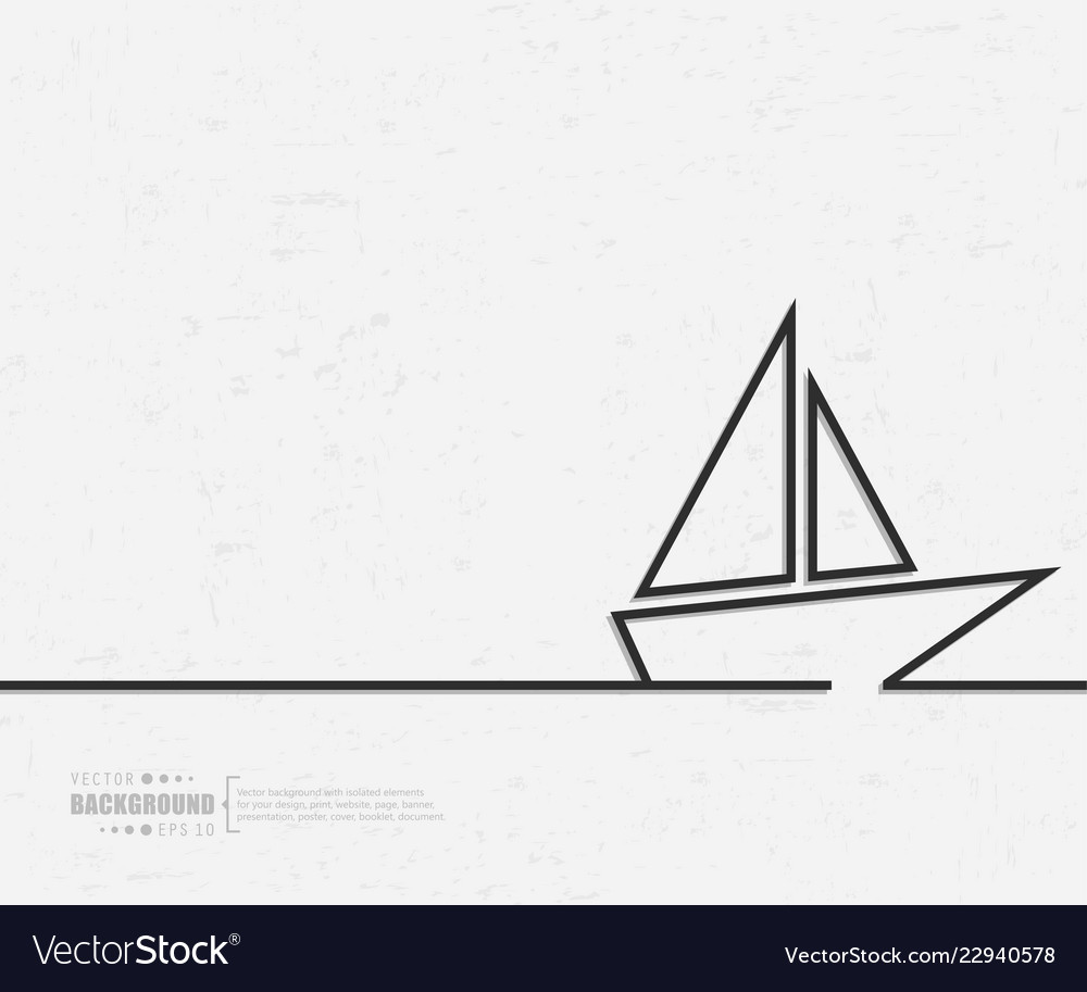 Abstract creative concept line draw
