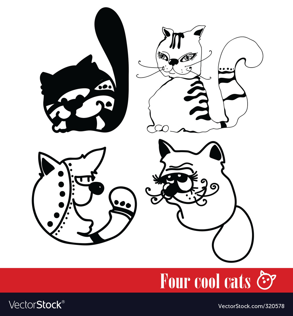 Band of four funky cats