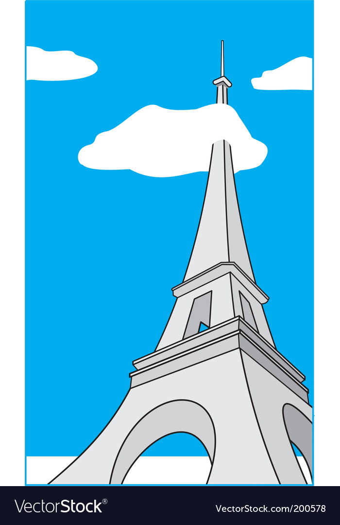 Cartoon Eiffel Tower vector image