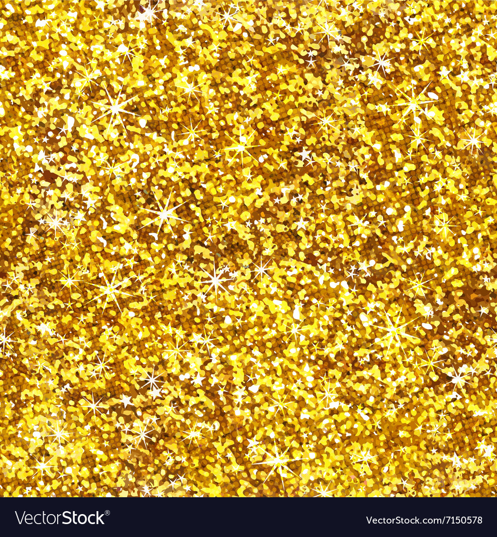 Glitter Gold: Glitter Shiny Gold Seamless Pattern Royalty Free Vector
