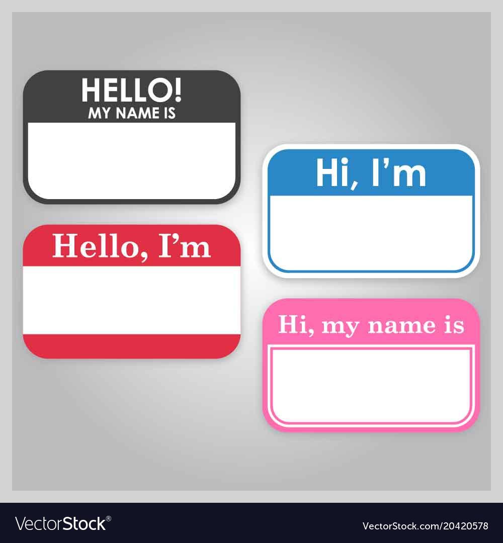 hello i am label royalty free vector image vectorstock