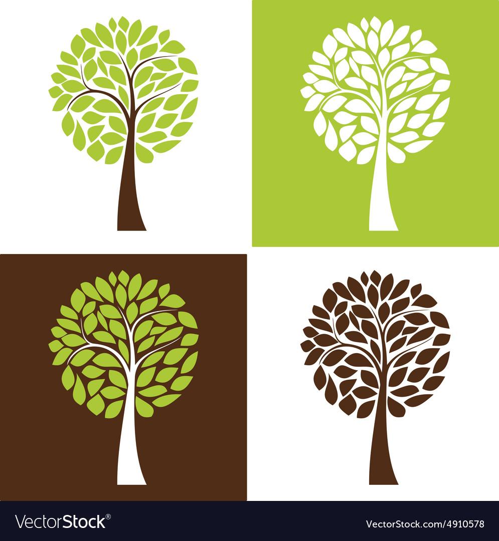 Simple tree set vector image