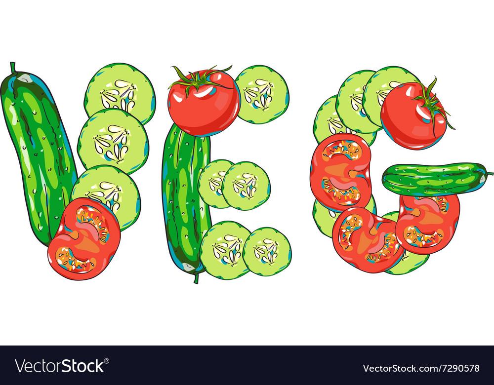 Vegetables set