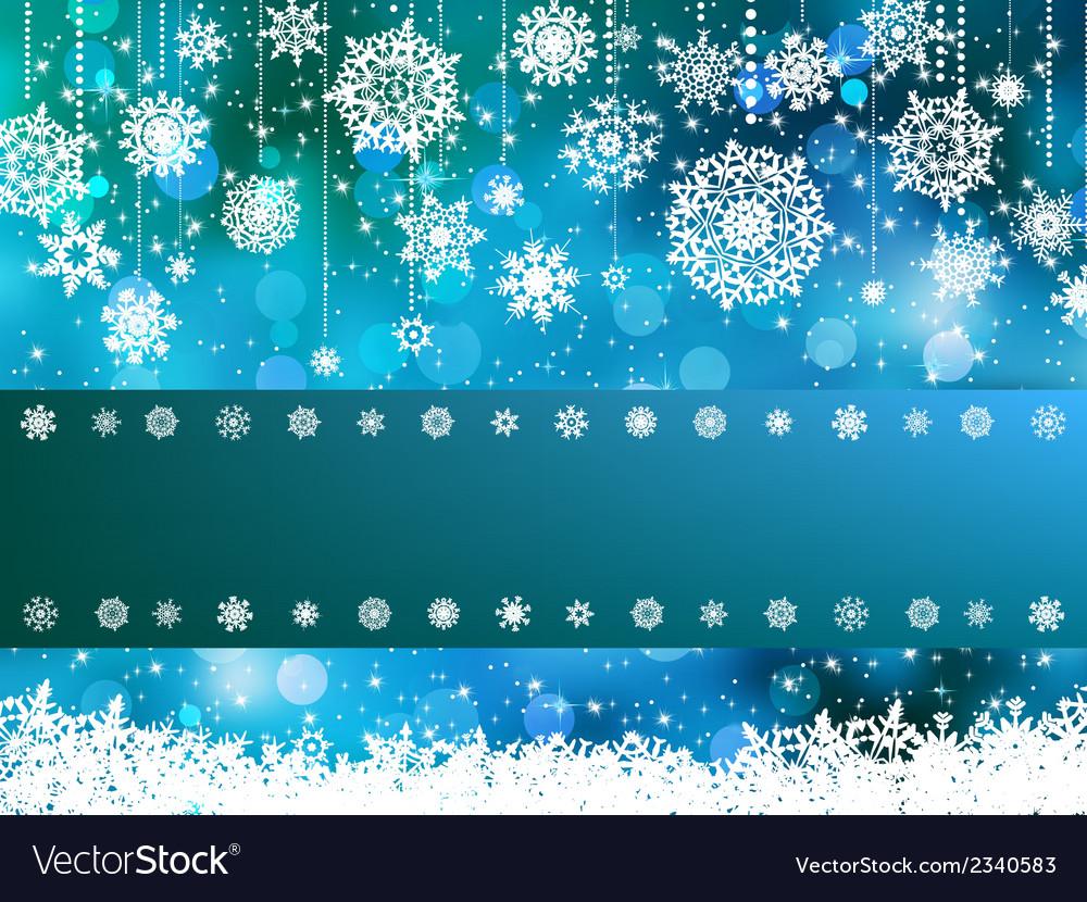 Blue Bokeh Of Christmas Lights Eps 8 Vector Image