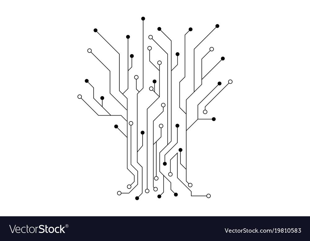 Circuit design Royalty Free Vector Image - VectorStock