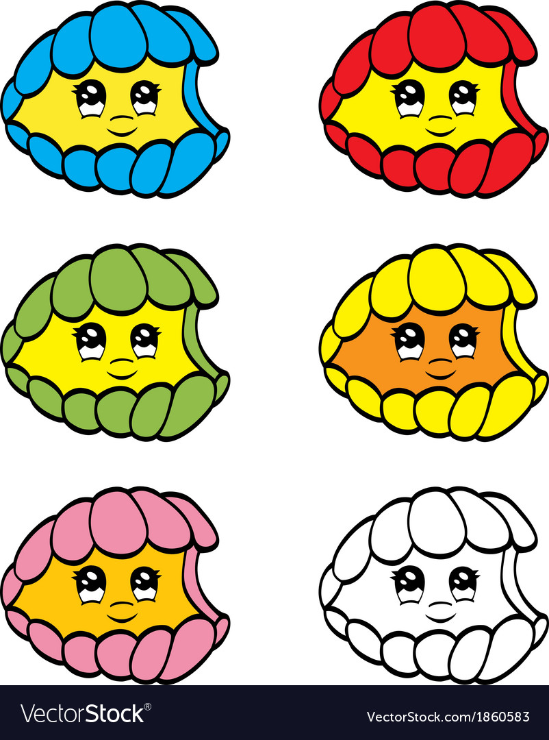 Cute clam vector image