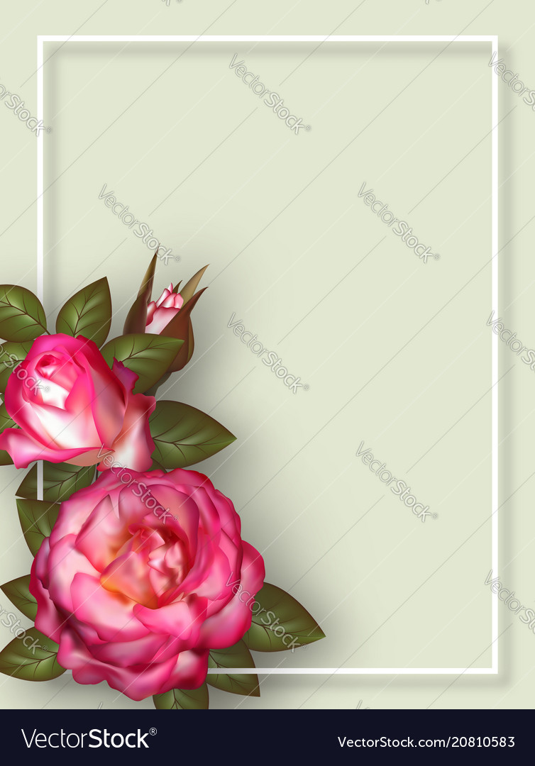 Floral card design for greeting or invitation