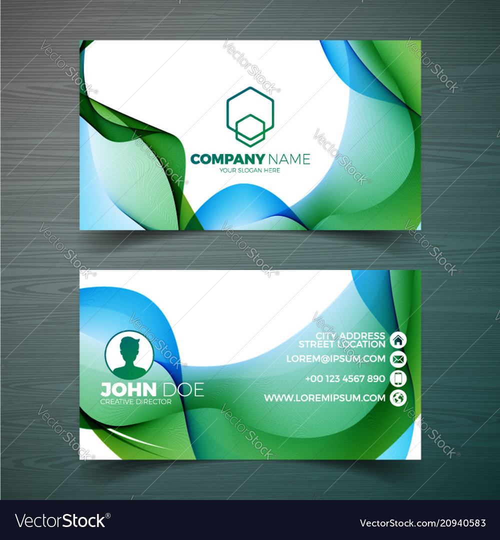 Modern business card design template with vector image friedricerecipe Gallery