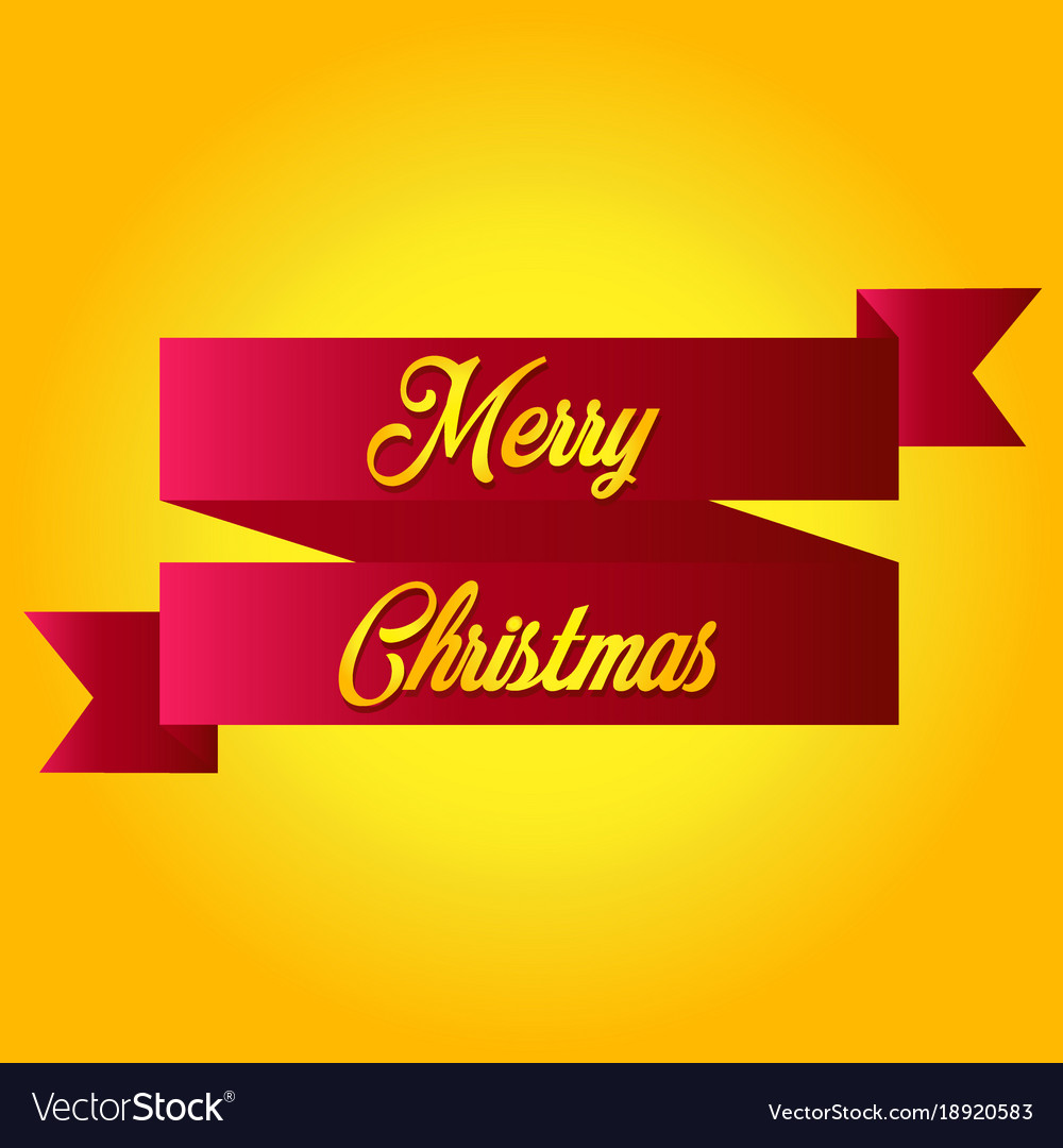 Ribbon label tags merry christmas and happy new