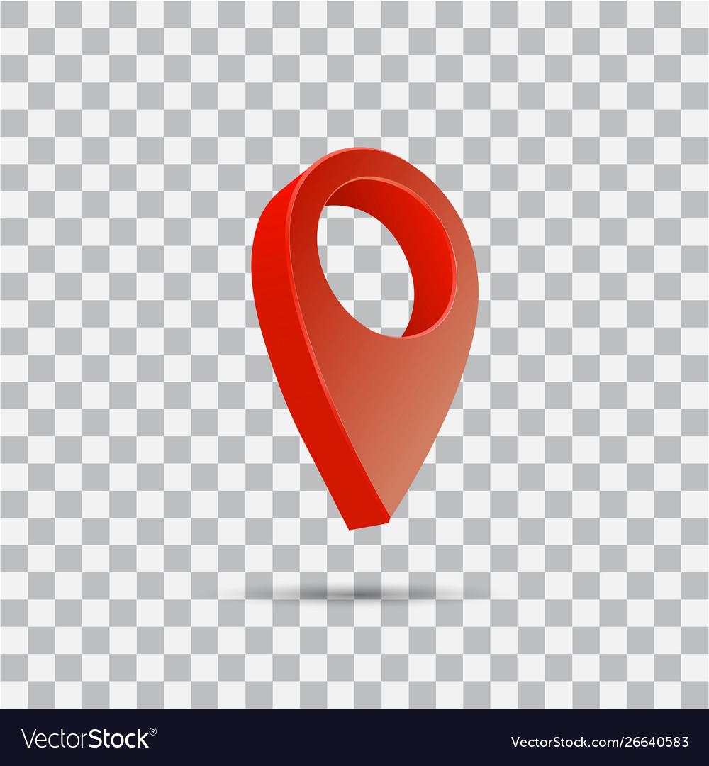 18 Set map pointer 10d pin location symbols Royalty Free Vector