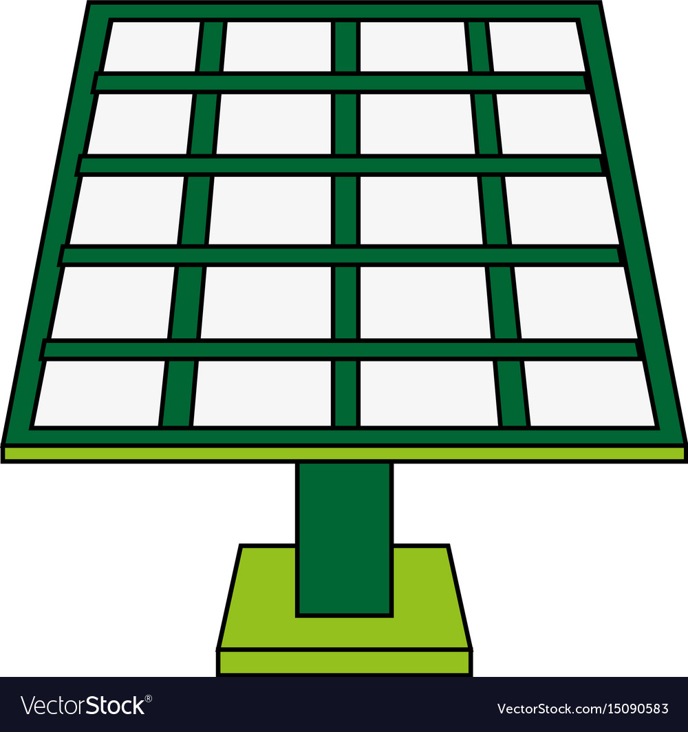 Solar panel cartoon vector image