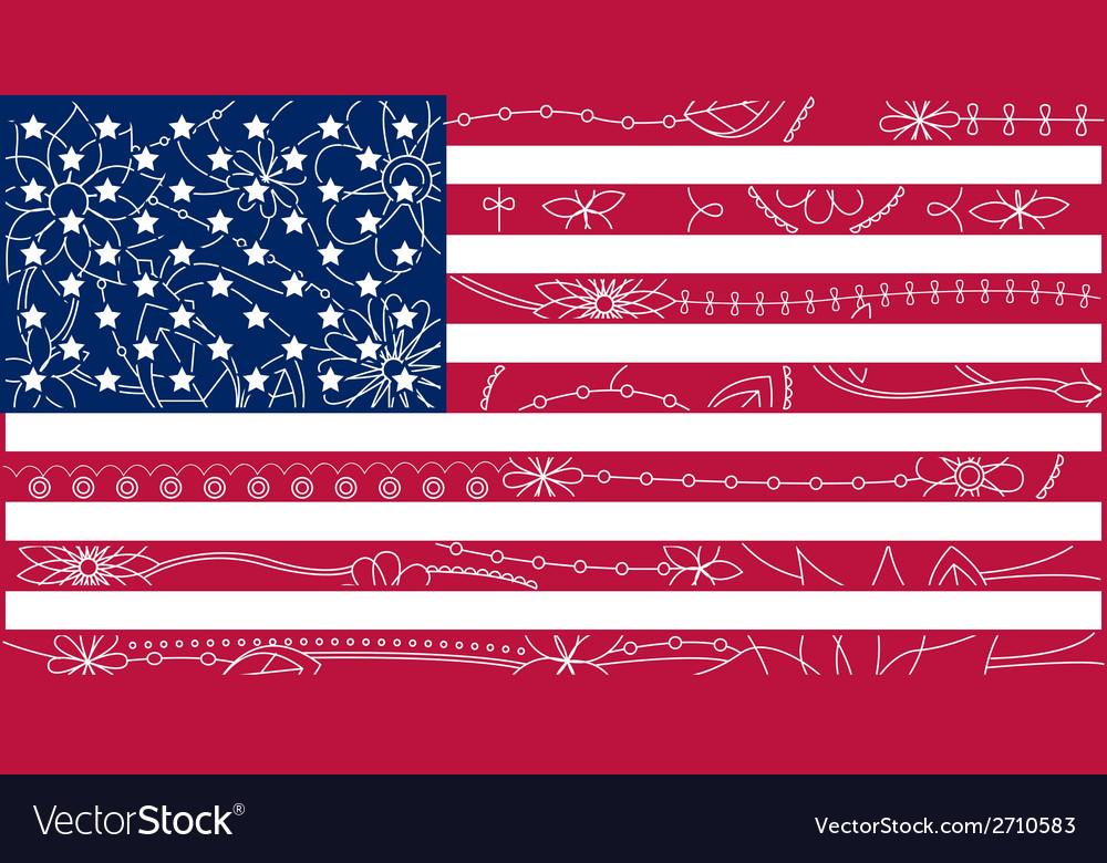 USA flag outline 2