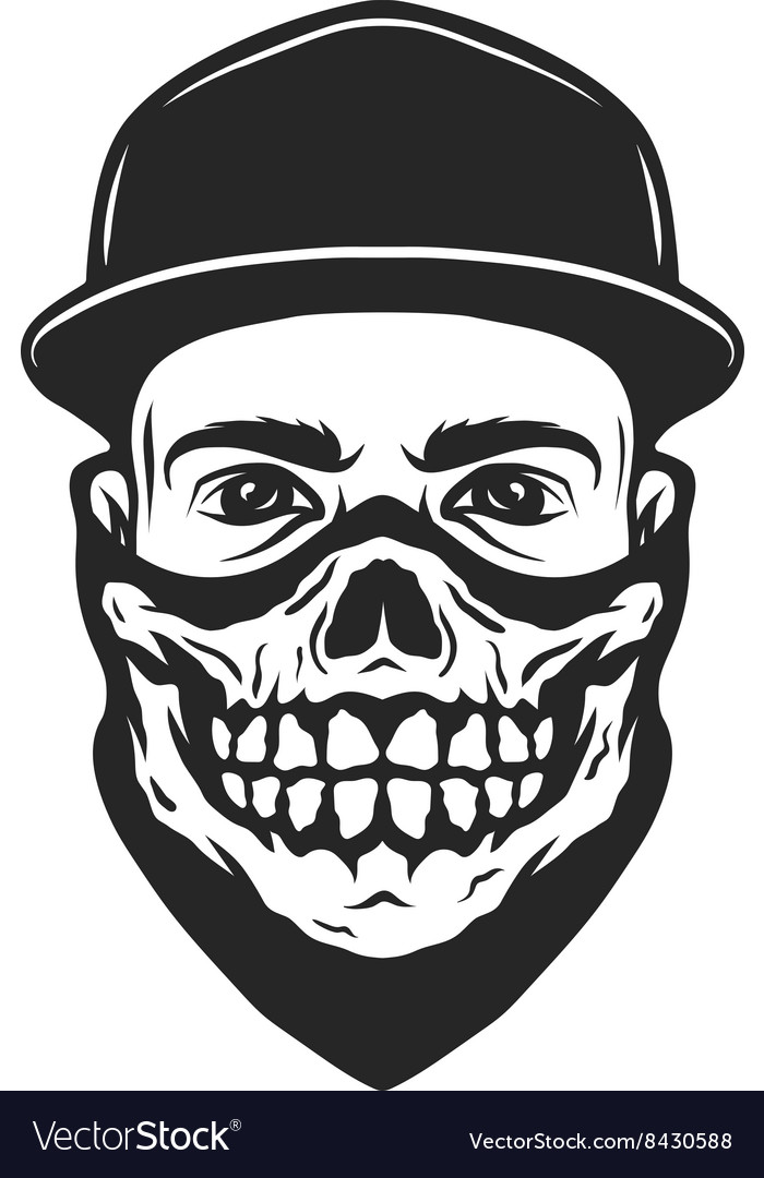 A guy in a bandana with a skull pattern