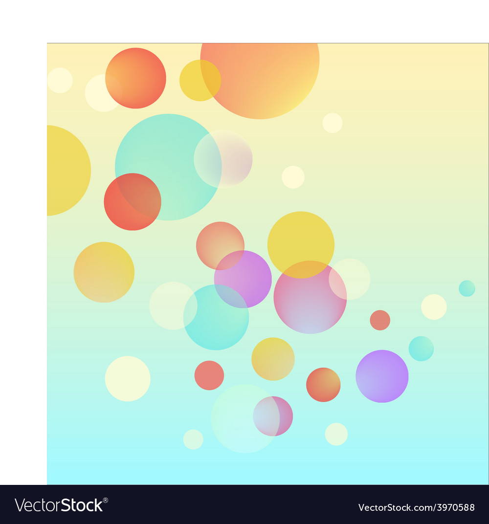 Abstract bubble circles colorful background vector image