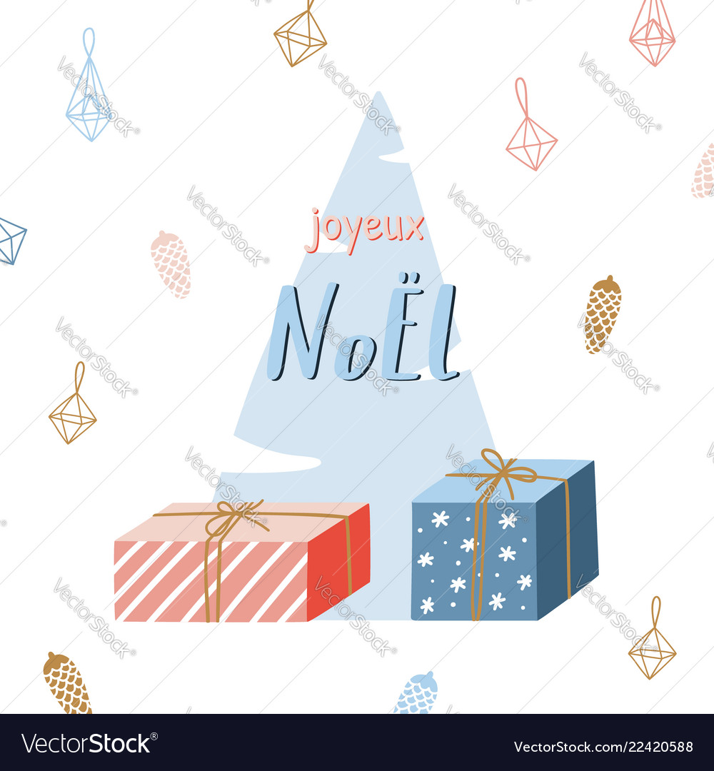 Christmas season hand drawn greeting card cute