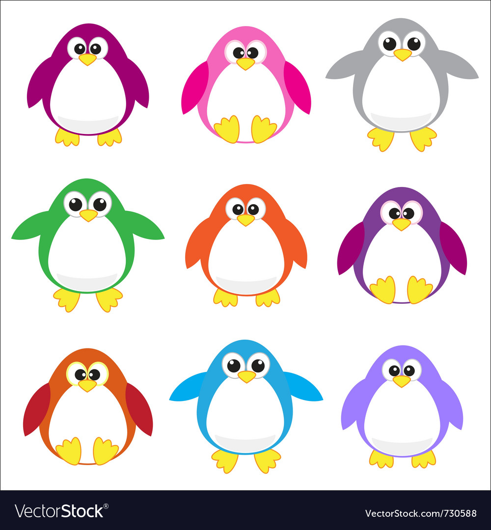 Colored penguins