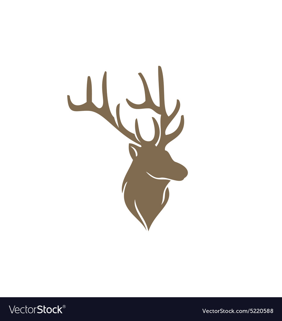Deer horn animal hunting abstract logo