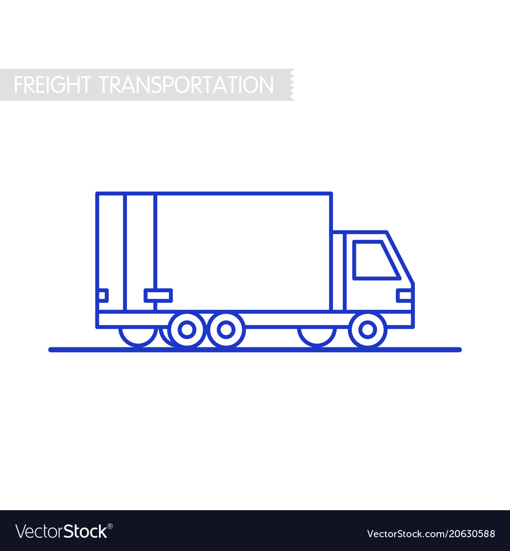 Freight transportation concept delivery service