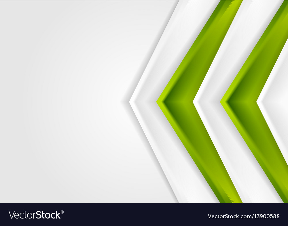 Green and grey contrast tech arrows background