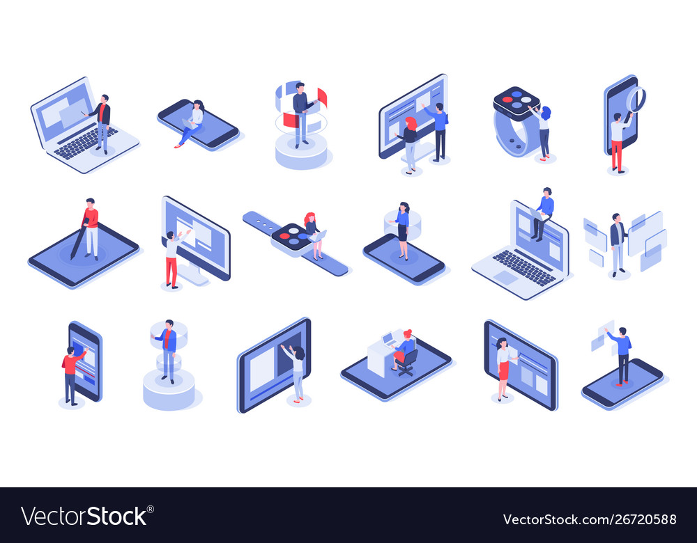 Isometric user interface online office device