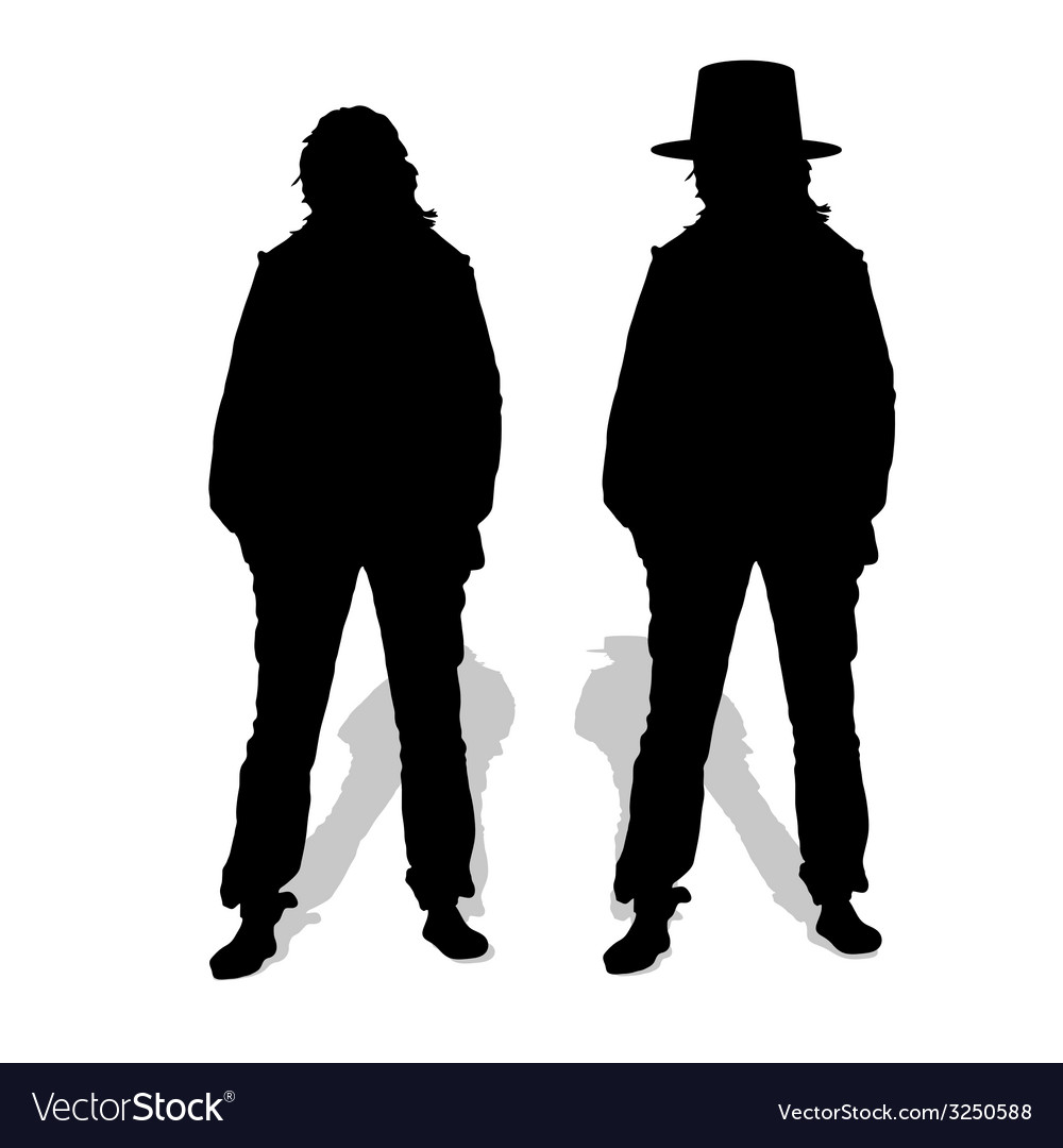 People couple silhouette