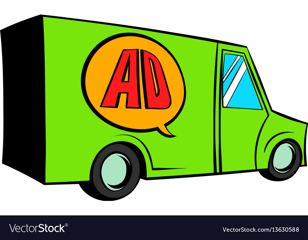 Sign for advertising on a truck icon cartoon vector image