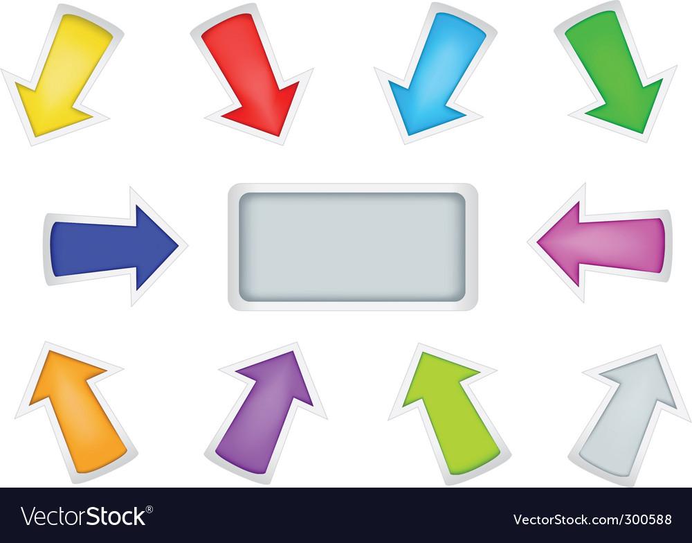 Simple arrows vector image