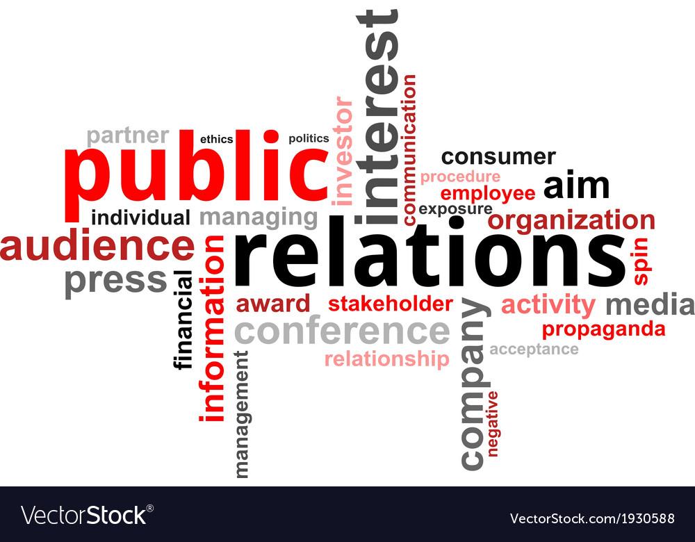 Word cloud public relations