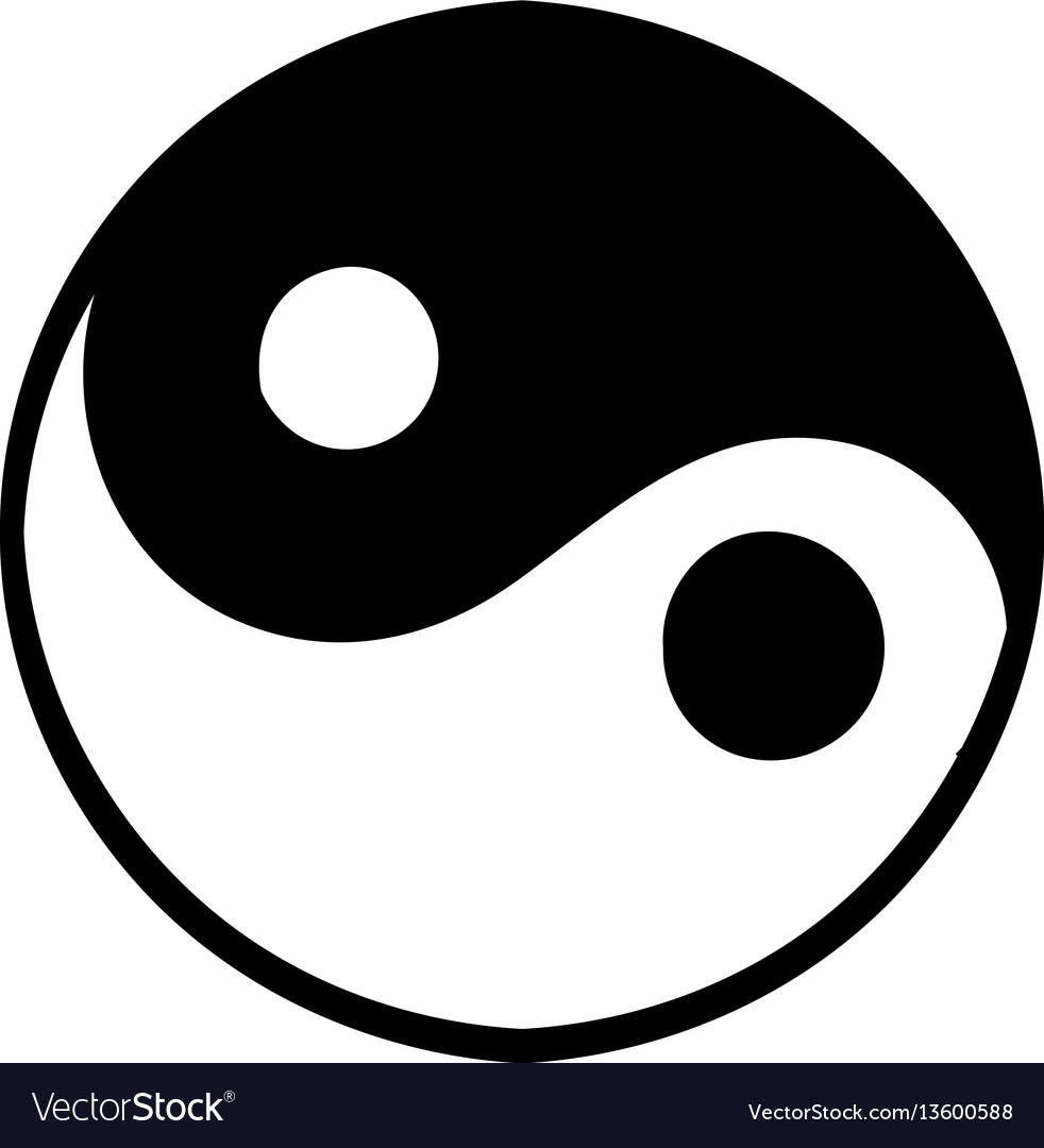 Ying yang icon icon cartoon