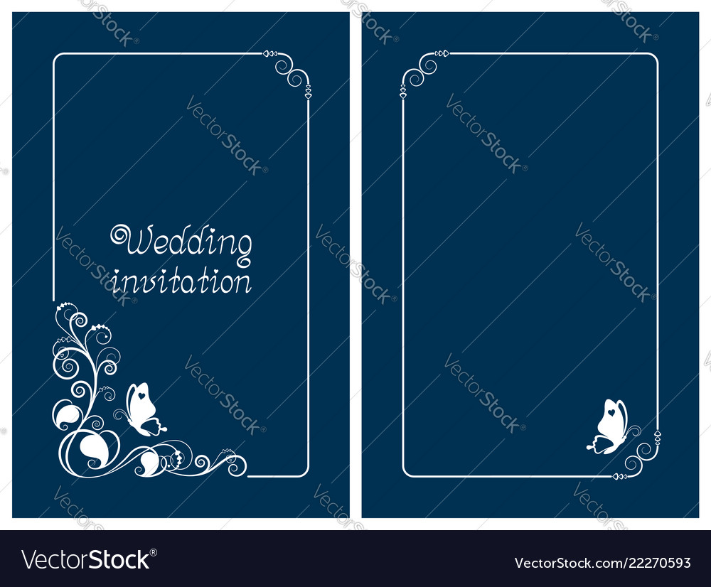 Blue wedding invitation and save the date cards
