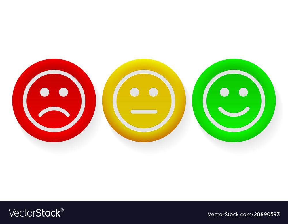 Face smile icon positive negative buttons