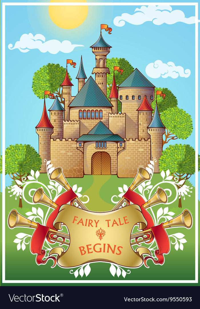 Fairy Tale About Knight Poster vector image
