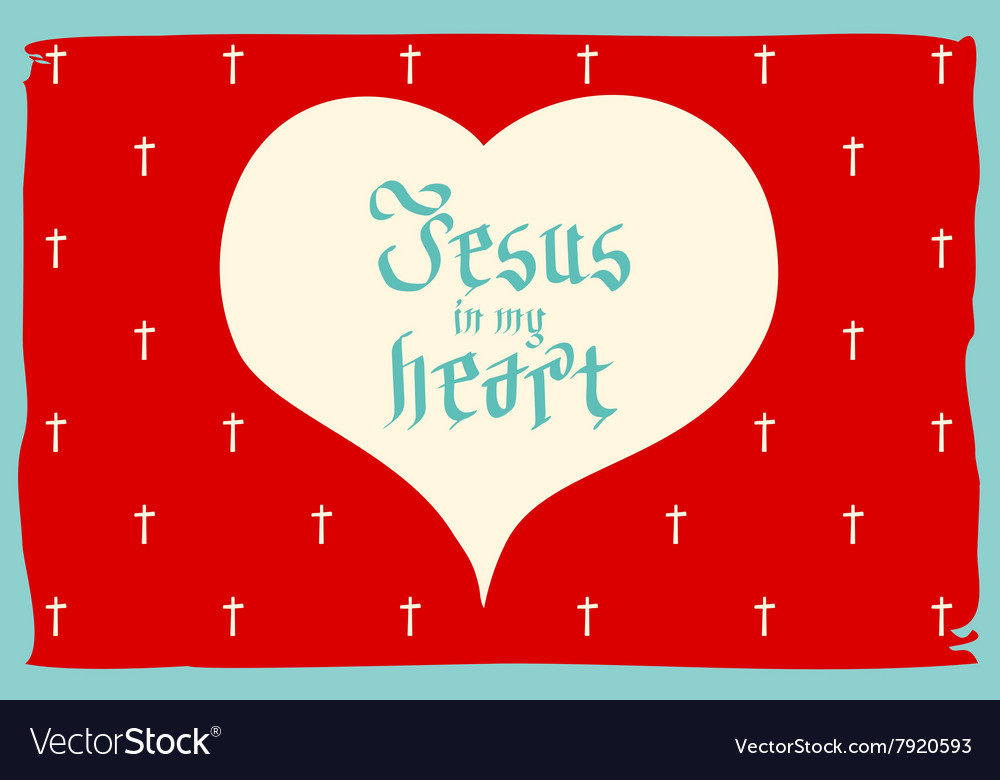 Gothic Bible lettering Christian art Jesus in my