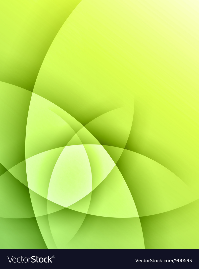 Green smooth light lines background vector image