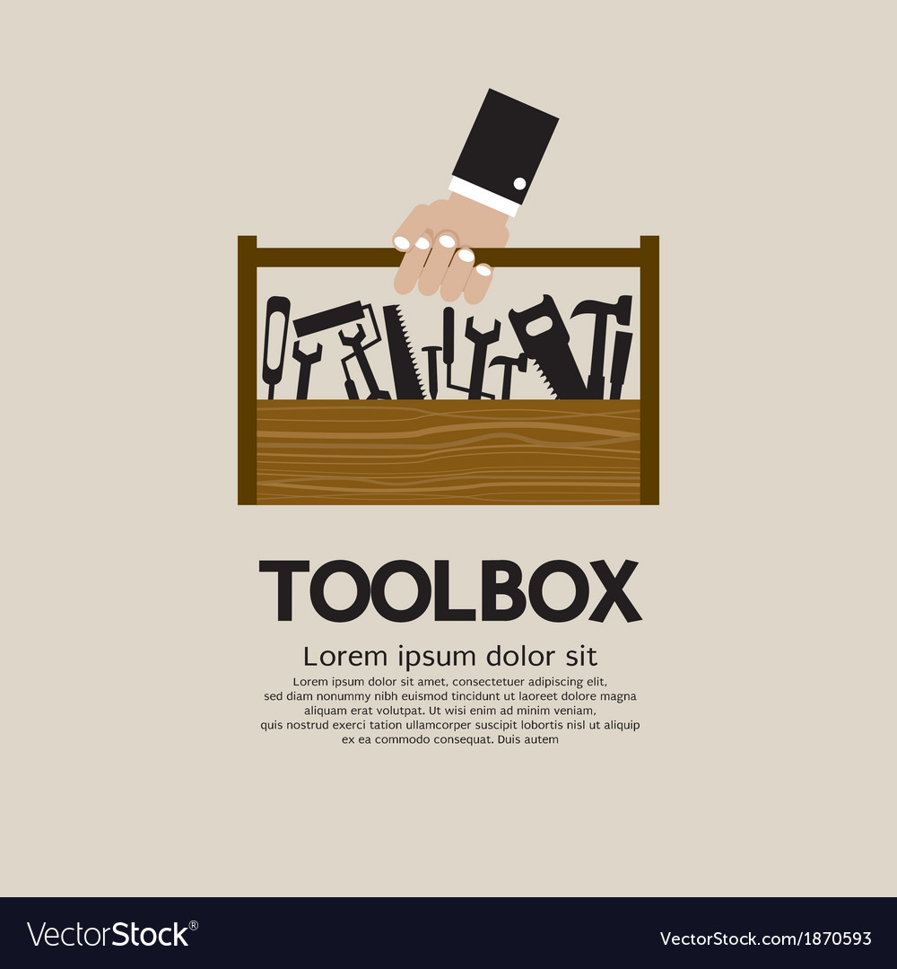 Hand Holding A Mechanic Toolbox