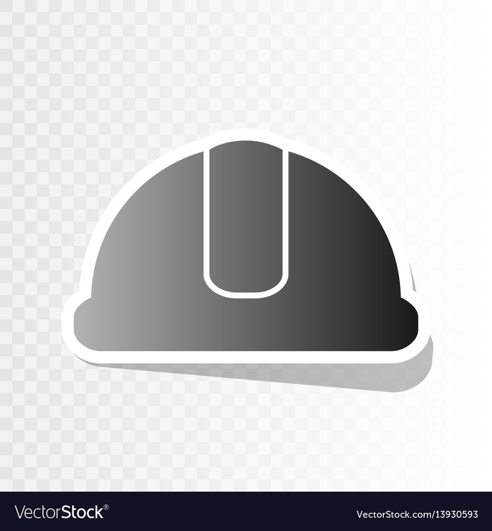 Hardhat sign new year blackish icon on